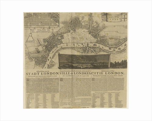 London on fire, 1666 by unknown
