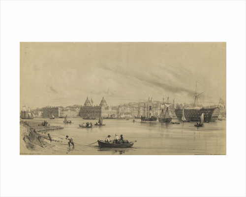 Greenwich and the Dreadnaught by William Parrott
