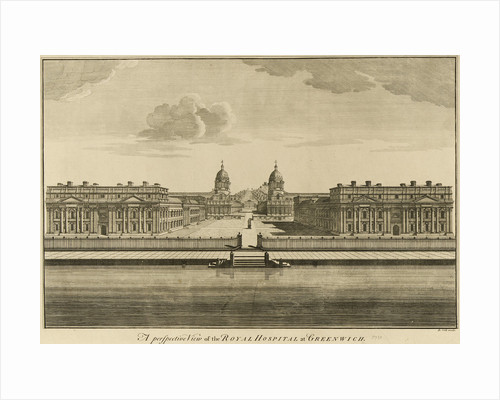 A perspective view of the Royal Hospital at Greenwich by Benjamin Cole