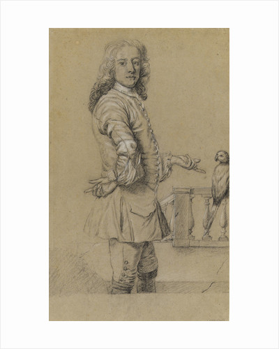 Self portrait with parrot by James Thornhill