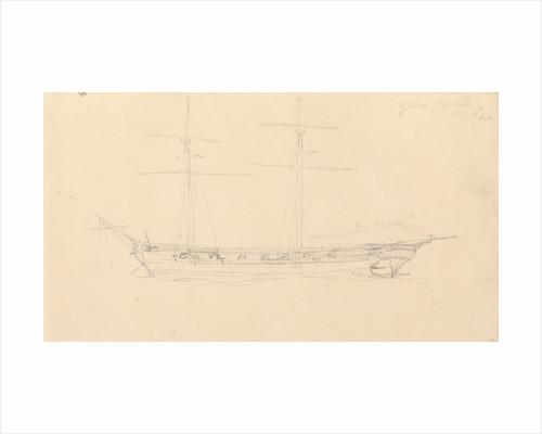 'Zephyr' Spithead July, 1815 by John Christian Schetky