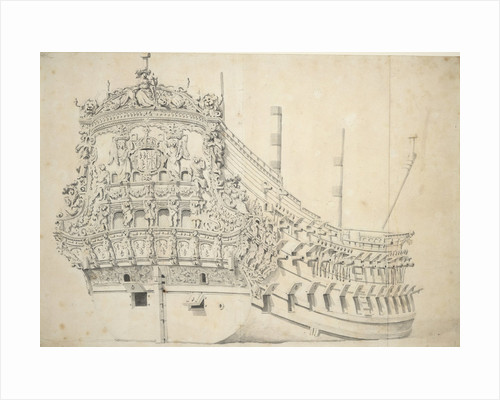 Portrait of a French two-decker. Built in Holland 1666-1667 by Willem Van de Velde the Younger