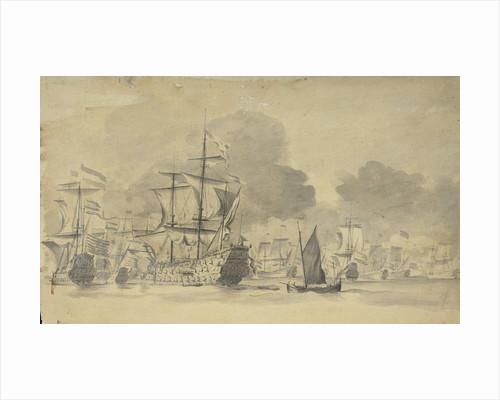 Dutch fleet at sea by Willem van de Velde the Elder