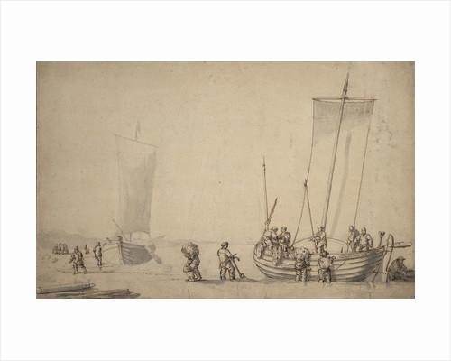 Pinks on the shore by Willem van de Velde the Elder