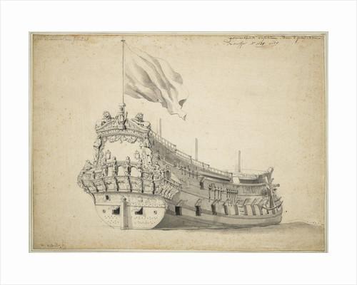 Portrait of the 'Admiral of Genoa' by Willem Van de Velde the Younger