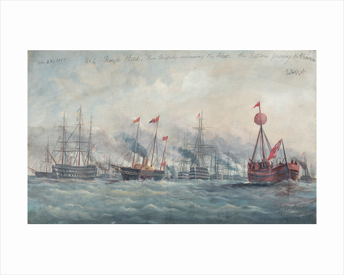 Her Majesty reviewing the fleet, 23 April 1856 by A.W. Howles