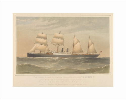 Lithograph of the 'Orient' (1879) steam ship by Thomas Goldsworth Dutton