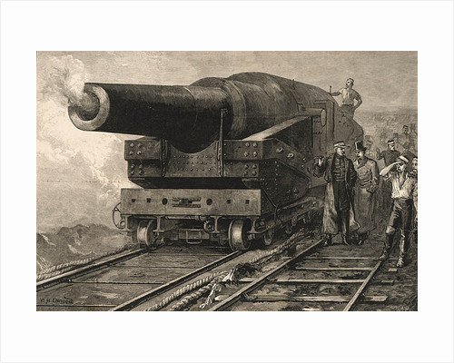 Firing the eighty-one ton gun at Shoeburyness by William Heysham Overend
