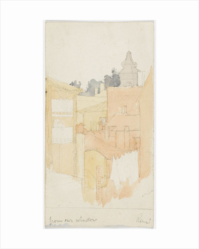 View 'from our window Rome!' by Matilda Rose Herschel