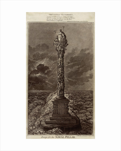 Britannia Victorious... Design for the Naval Pillar by James Gillray