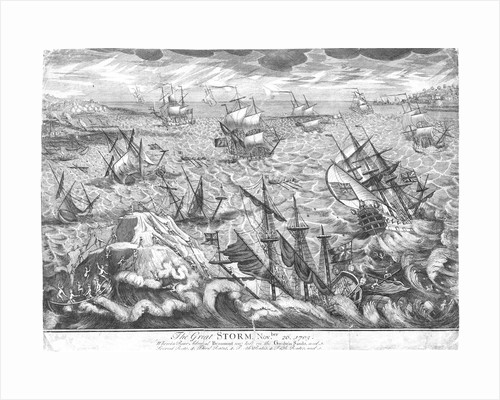 The Great Storm, 26 November 1703 by unknown