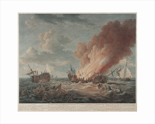 The distressed situation of the 'Quebec' and the 'Surveillante', 6 October 1779 by Richard Paton