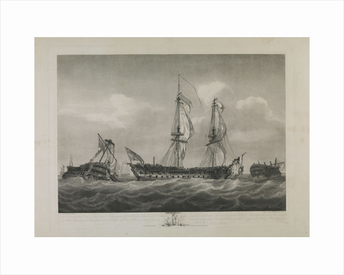 The 'Brunswick' and Le 'Vengeur' after the Action on the first of June 1794 by Robert Pollard