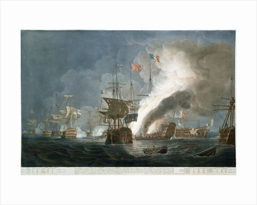 The Battle of the Nile, 1 August 1798 by Thomas Whitcombe