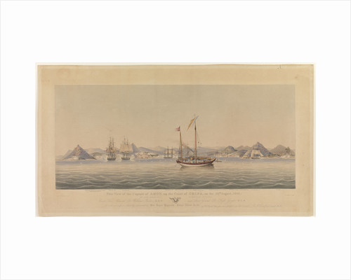 This View of the Capture of Amoy on the Coast of China, on the 26th August, 1841 by Her Majesty's Combined Forces by Henry Papprill