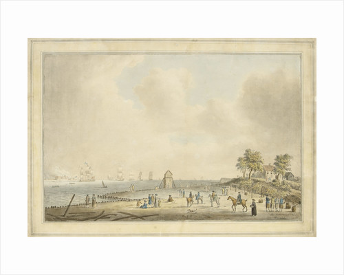The arrival of Princess Charlotte at Harwich, September 1761 by Dominic Serres the Elder