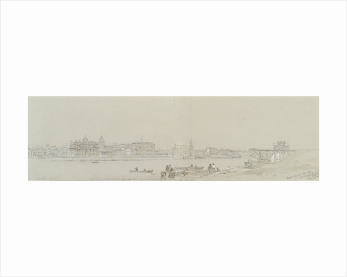 Greenwich from the N. E. / 19 October 1848. The weather very cold ... by John Wilson Carmichael