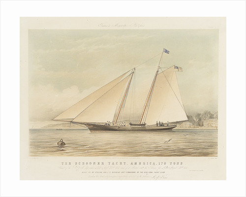 The schooner yacht 'America' by Thomas Sewell Robins