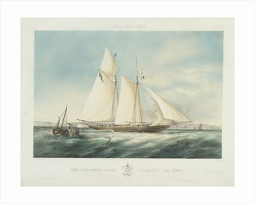 The schooner yacht 'Czarina' by Thomas Sewell Robins