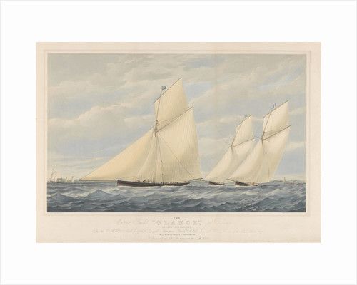 The Cutter Yacht Glance, 36 Tons by Josiah Taylor