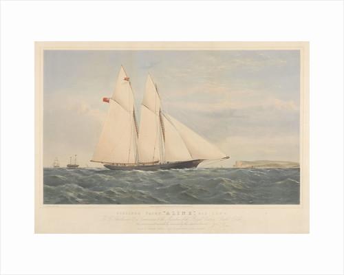Schooner Yacht Aline,  216 Tons... Royal Victoria Yacht Club by Thomas Goldsworth Dutton