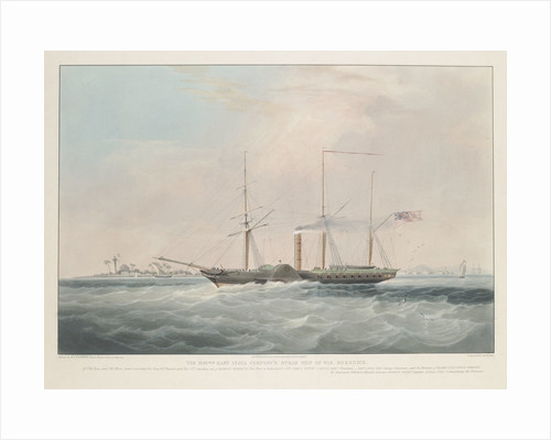 The East India Company's steam ship of war, 'Berenice' by William John Huggins