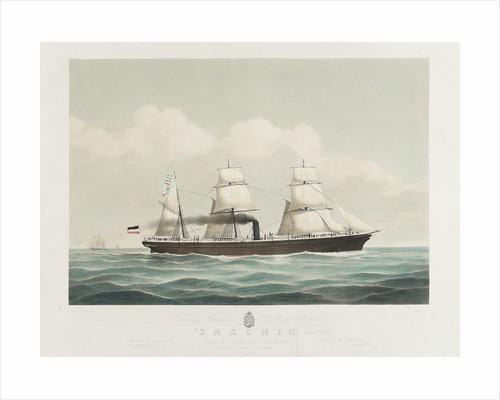 Hamburg American mail steamer 'Saxonia' by H. Petersen