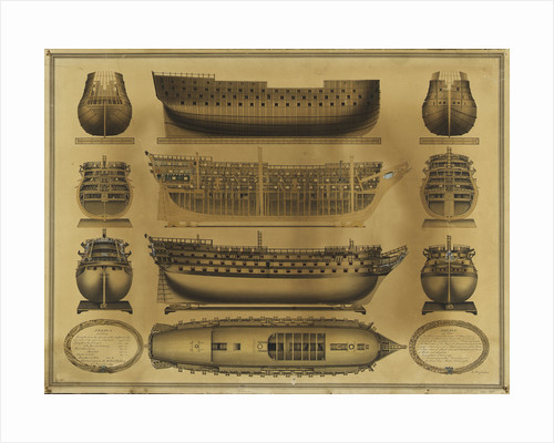 Plan of HMS 'Nelson' by James Pringle