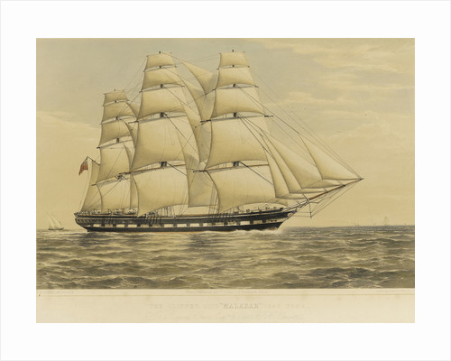 Clipper ship 'Malabar' by Thomas Goldsworth Dutton