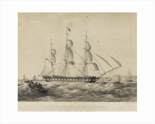 The East Indiaman 'Barham' by Thomas Goldsworth Dutton