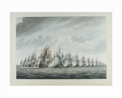 Battle of the Nile, 1 August 1798 by Thomas Buttersworth