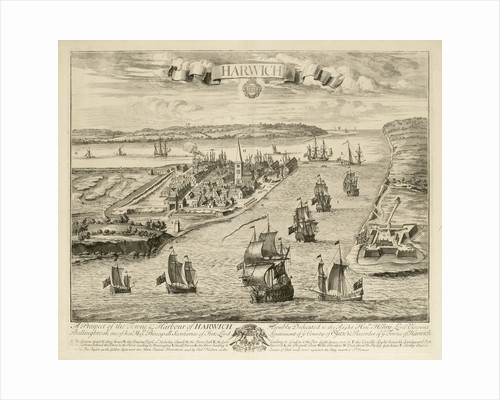 A prospect of the town & harbour of Harwich by Jan Kip