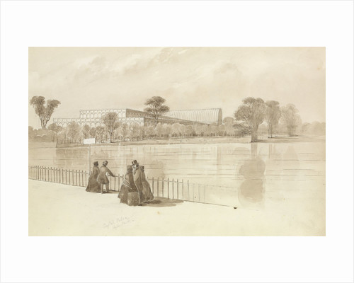 View of the Crystal Palace as built in Hyde Park for the Great Exhibtion, July 1851 by George Pechell Mends