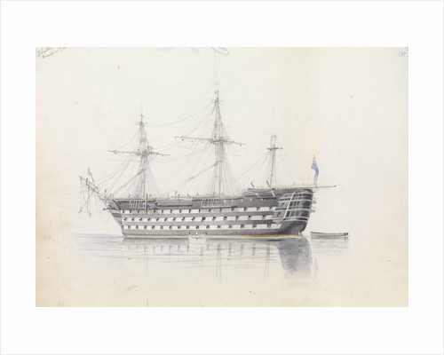HMS 'Trafalgar' in Grand Harbour, Malta, 11 March 1852 by George Pechell Mends