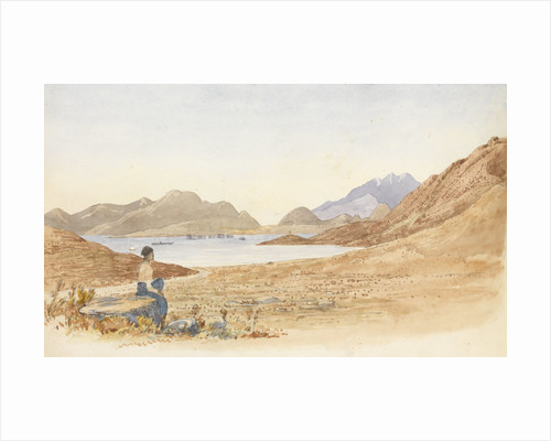 The bay of Salamis from the Piraeus road by George Pechell Mends
