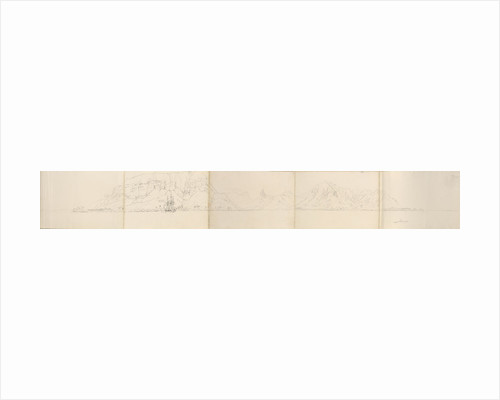 Panorama of Eimeo [Moorea], Society Islands by Edward Gennys Fanshawe
