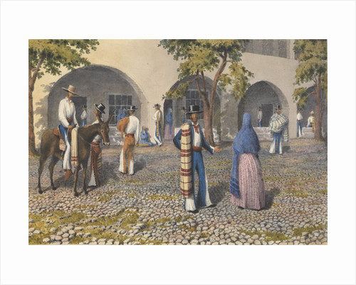 Mexicans, Plaza at Tepic [Mexico], Augt 19th - 13th 1850 by Edward Gennys Fanshawe