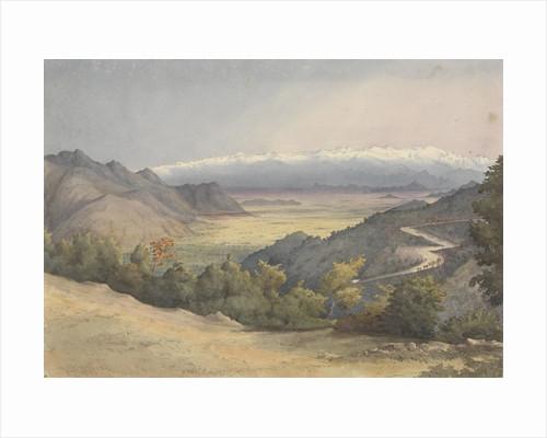 Plain of Santiago, Chile, from the Cuesta del Prado, Jany 7th 1851 by Edward Gennys Fanshawe