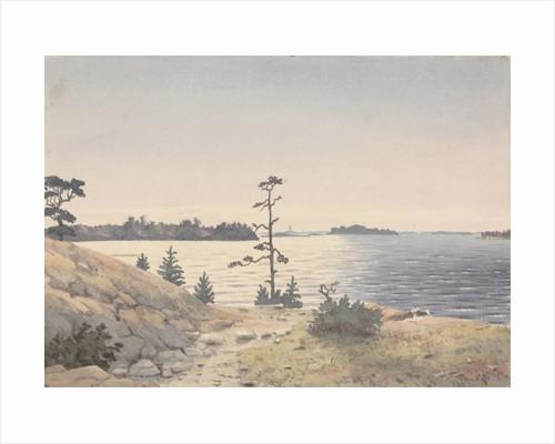 Coastal view four miles north-eastward of Reskar Lighthouse, Baro Sound, Finland by Edward Gennys Fanshawe