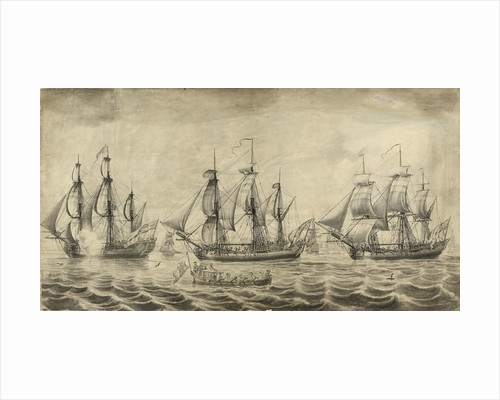 Three ships of the Hudson's Bay Company off Greenwich by John Hood