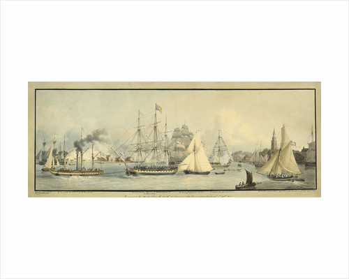 The arrival of His Majesty George the Fourth at Gravesend, after having visited Edinburgh. 1st September 1822 by John Thomas Serres
