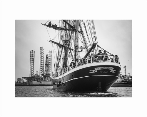 Stowing the fore topsail, Morgenster VOF by Richard Sibley