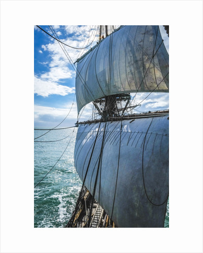 The view aft from the Foremast. Göteborg by Richard Sibley