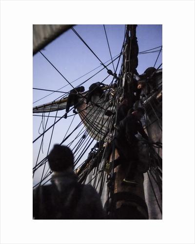 Reducing sail, Göteborg by Richard Sibley