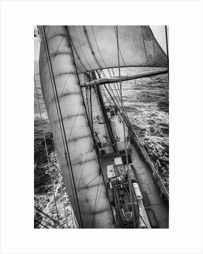 The view aft from the foremast, Morgenster VOF by Richard Sibley