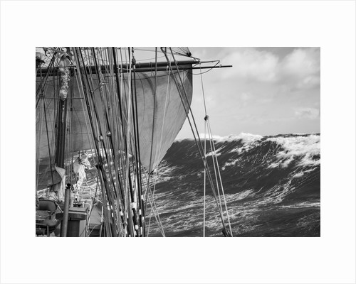 The power of a square rigger, Morgenster VOF by Richard Sibley