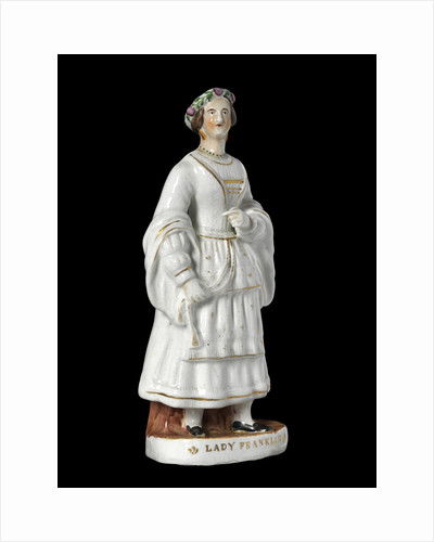 A Staffordshire earthenware figure of Lady Jane Franklin (1792-1875) by unknown