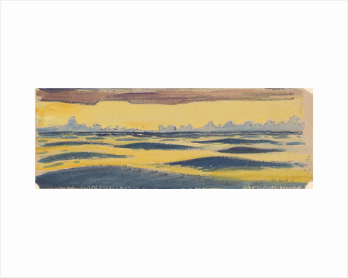 Seascape, dark blue and yellow and brown cloud by John Everett