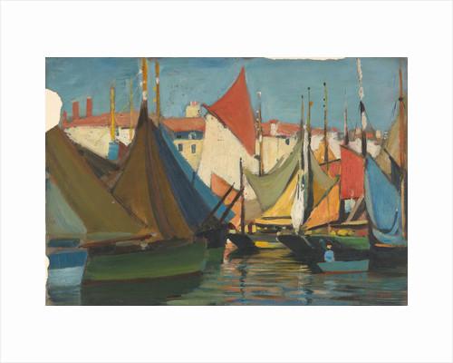La Rochelle: fishing boats in the harbour by John Everett