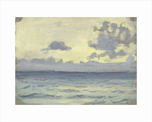 Seascape, ships on a calm horizon by John Everett